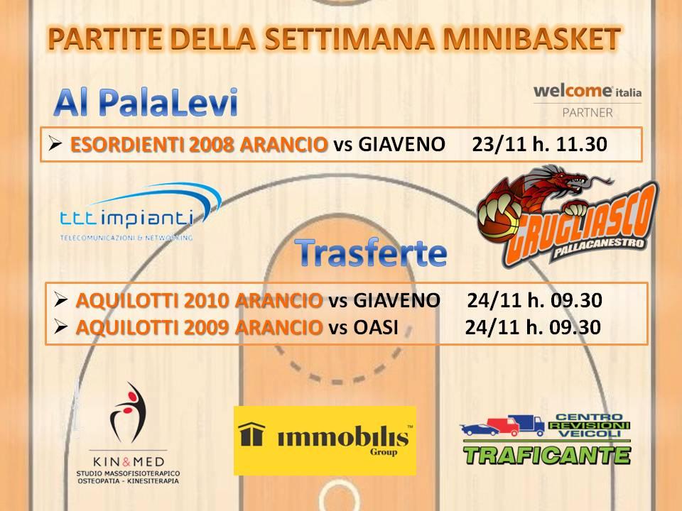 Le partite settimanali Minibasket