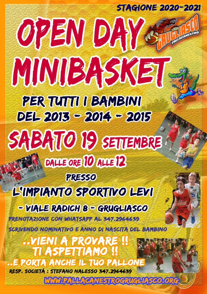 OPEN DAY MINIBASKET